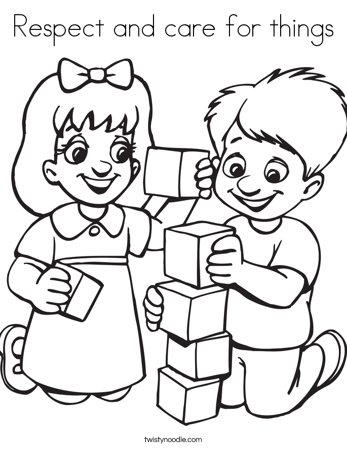 Respect and care for things Coloring Page