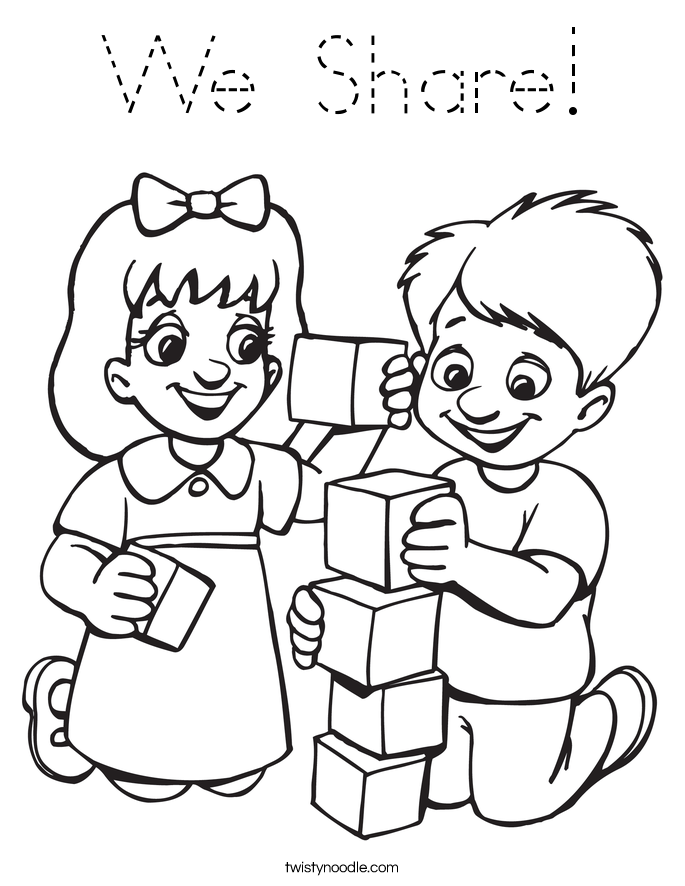 We Share! Coloring Page