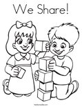 We Share!Coloring Page