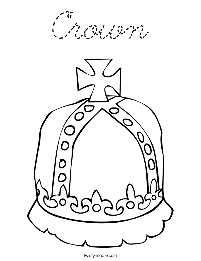 coloring pages of girly things - crown coloring page cursive twisty noodle