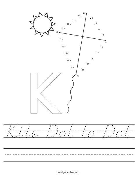 Kit Dot to Dot Worksheet