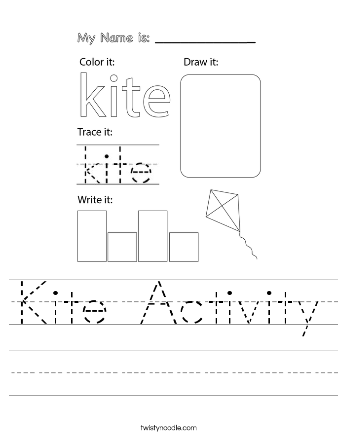 Kite Activity Worksheet