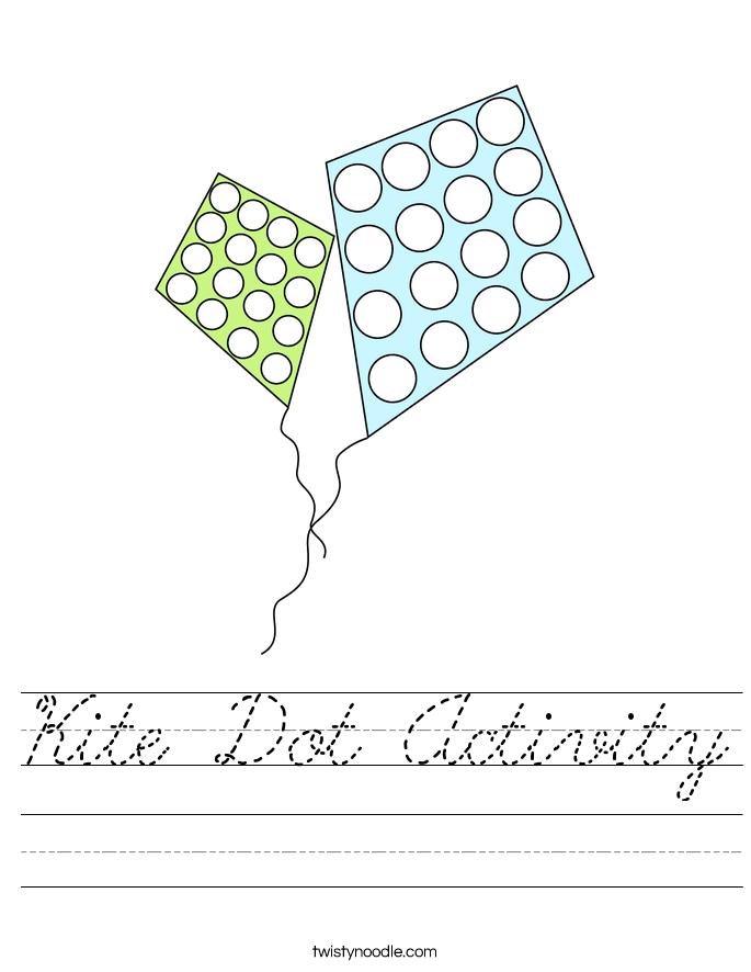 Kite Dot Activity Worksheet