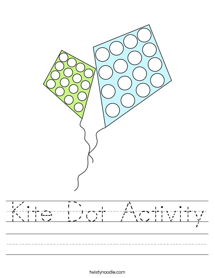 Kite Dot Activity Worksheet