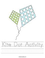 Kite Dot Activity Handwriting Sheet