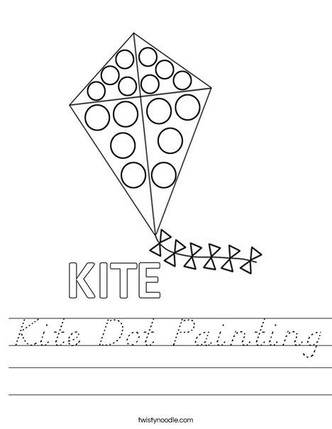 Kite Dot Painting Worksheet
