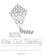 Kite Dot Painting Handwriting Sheet