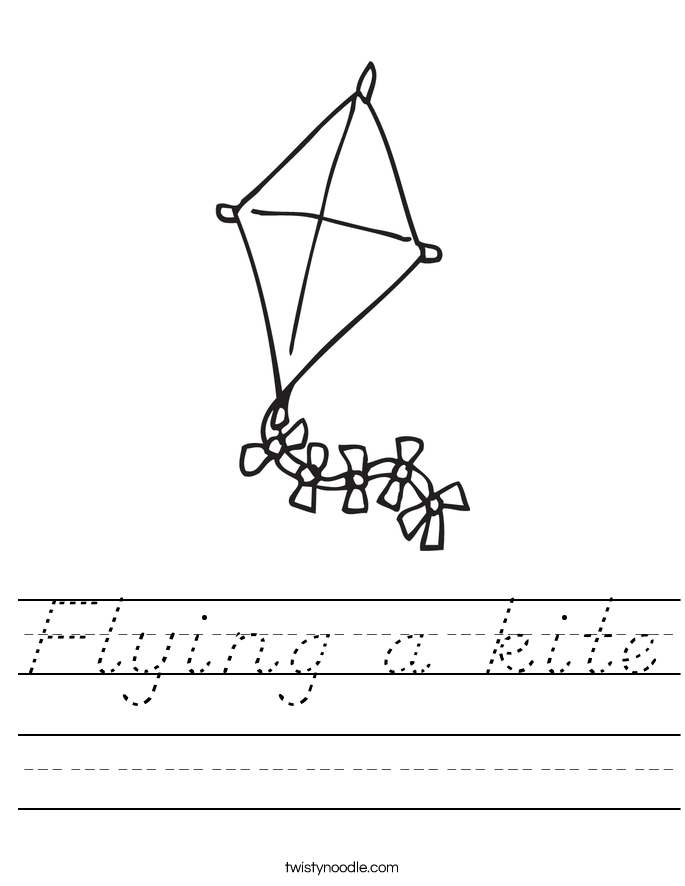 Flying a kite Worksheet