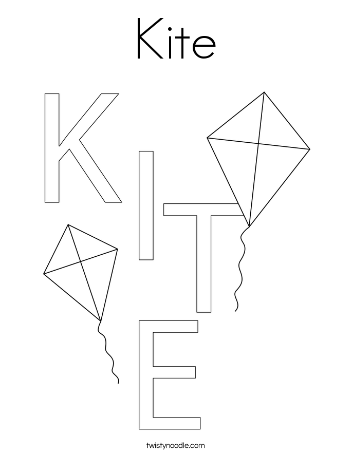 kite coloring pages - photo#28
