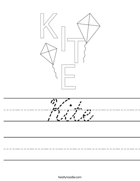 Kite Worksheet