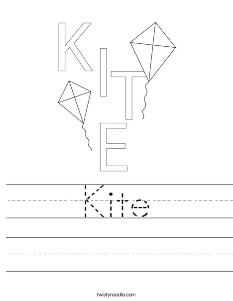 Kite Worksheet