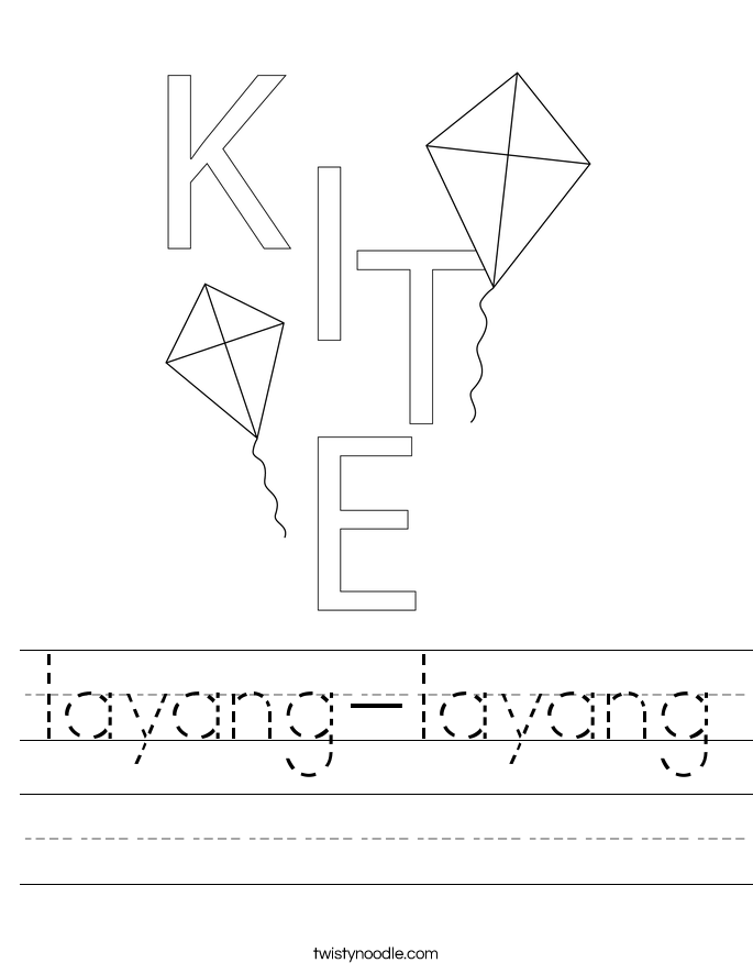 layang-layang Worksheet
