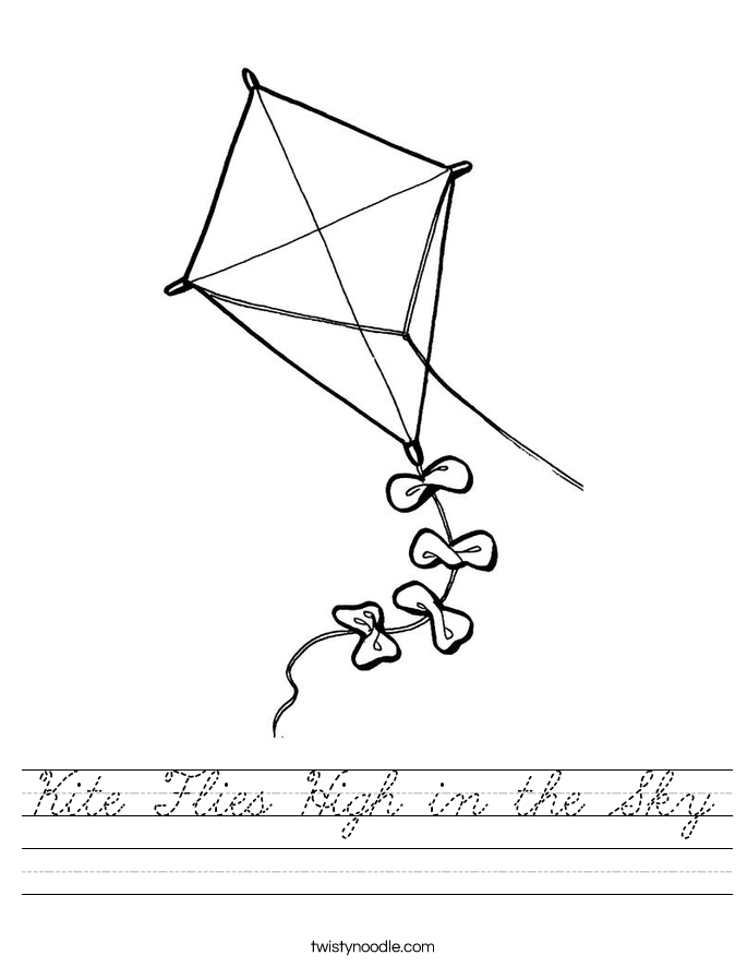 Kite Flies High in the Sky Worksheet