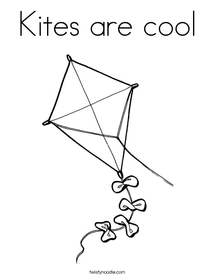 Kites are cool Coloring Page