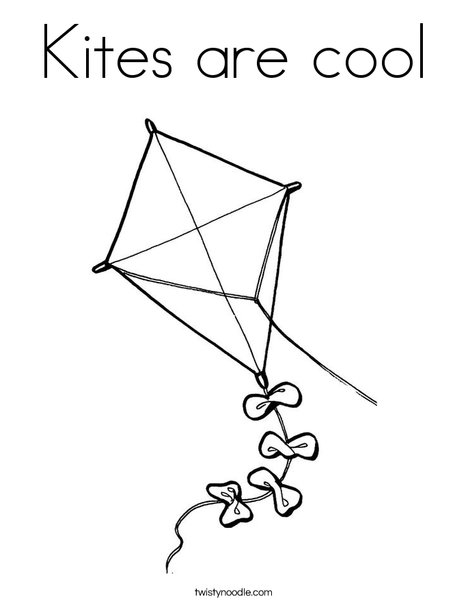 Quadrilateral Kite Coloring Page