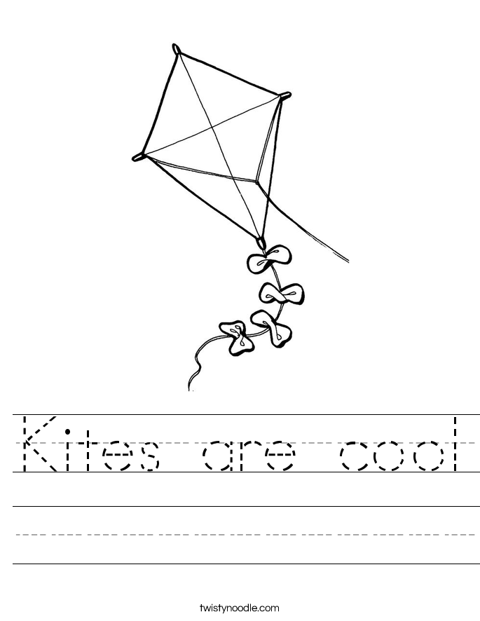 Kites are cool Worksheet
