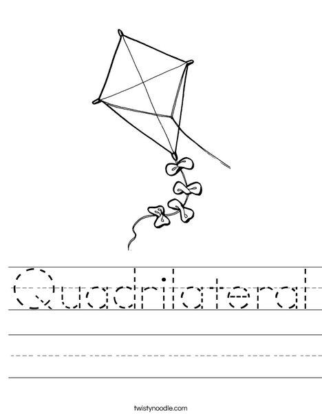 Quadrilateral Kite Worksheet