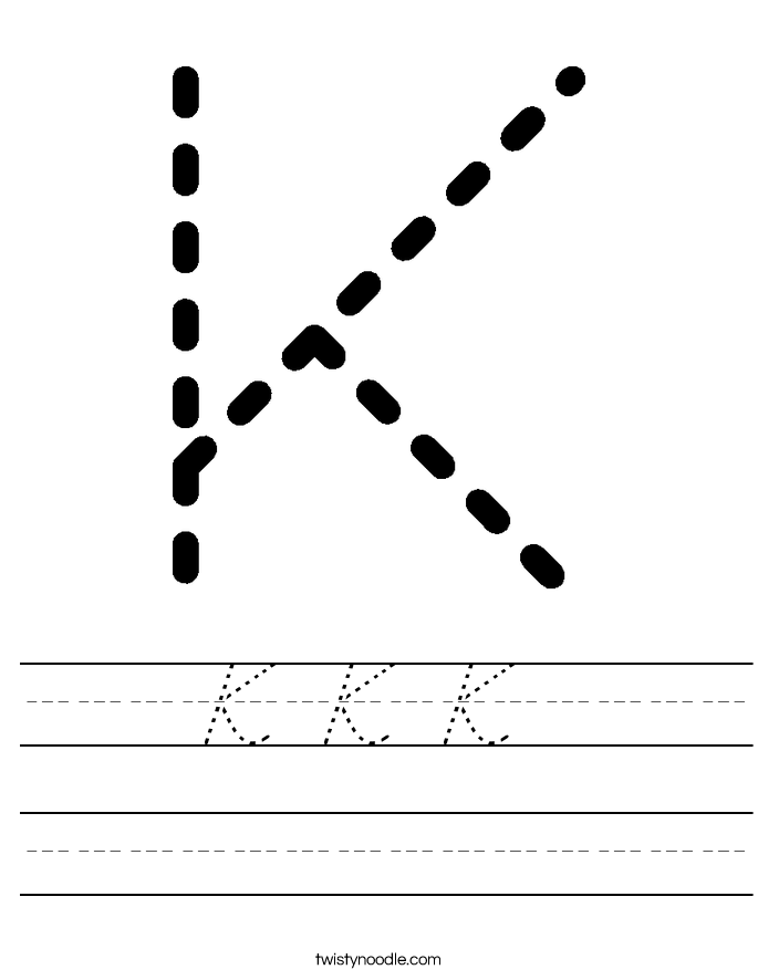 K K K  Worksheet