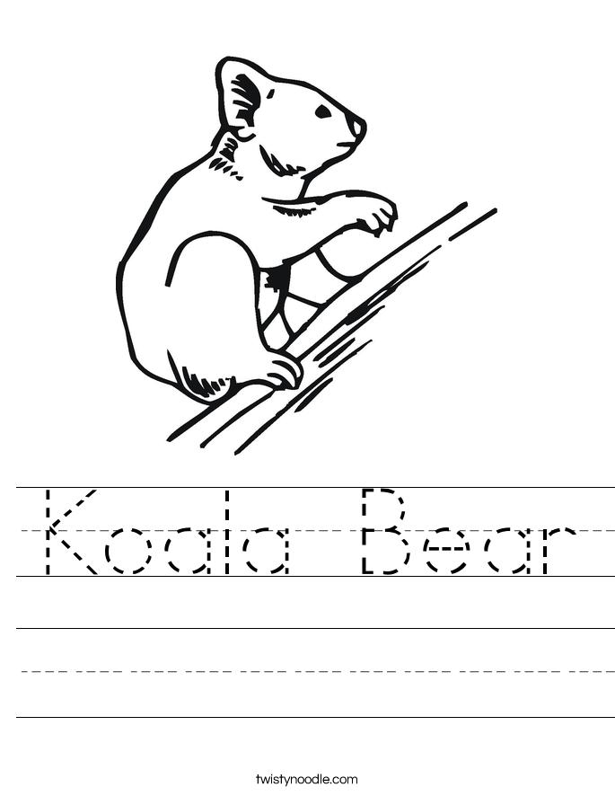 Polar Bear Worksheet