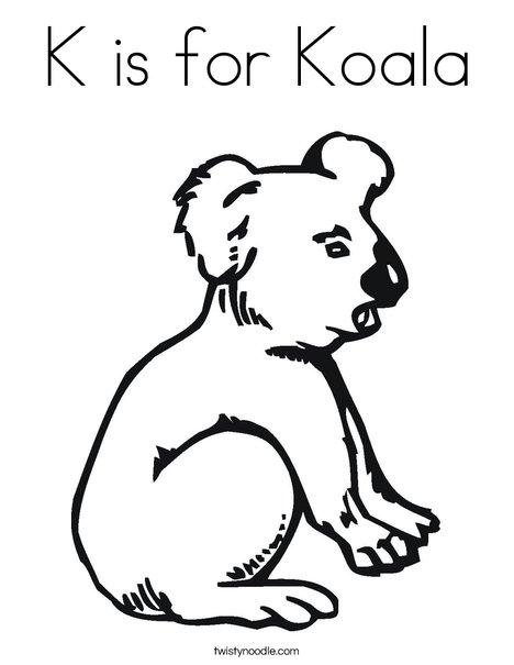Koala Bear Coloring Page