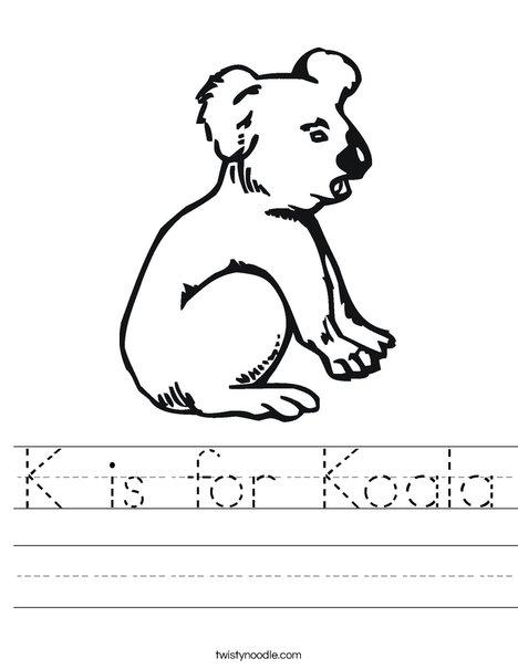 Koala Bear Worksheet