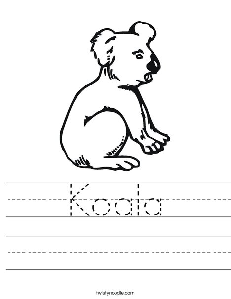 Koala Bear Worksheet