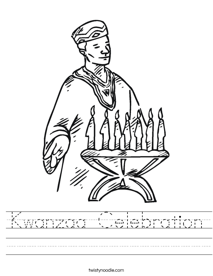 Kwanzaa Celebration Worksheet