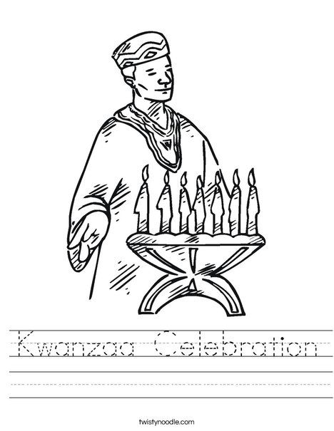 Kwanzaa Candles Worksheet
