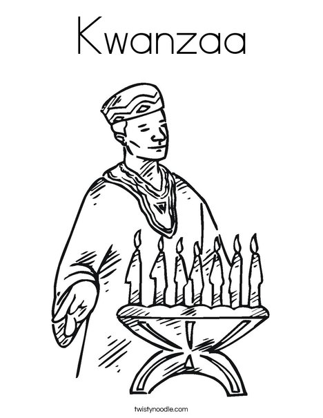 Kwanzaa Candles Coloring Page