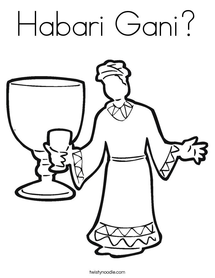 Habari Gani? Coloring Page
