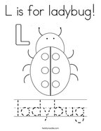 L is for ladybug Coloring Page
