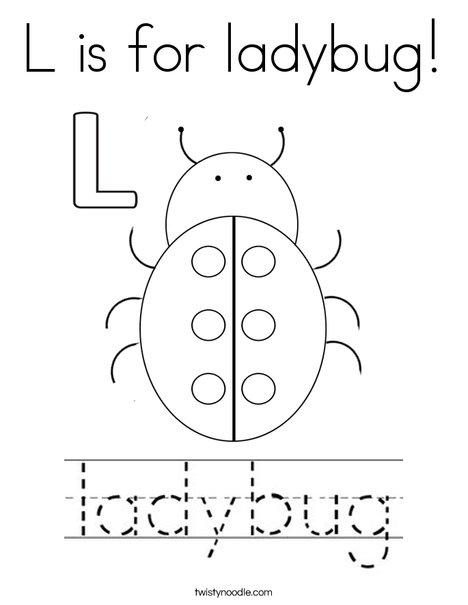 lady bug coloring sheet