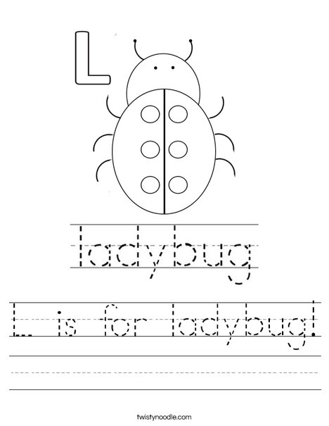 L is for ladybug! Worksheet