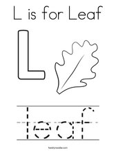 coloring page l is for leaf coloring page
