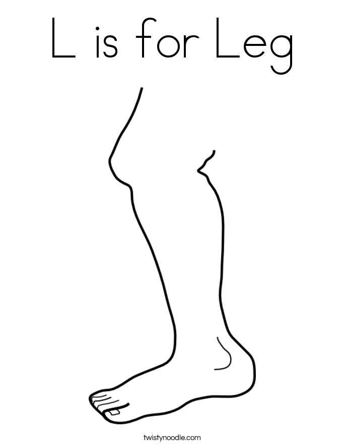 L is for Leg Coloring Page