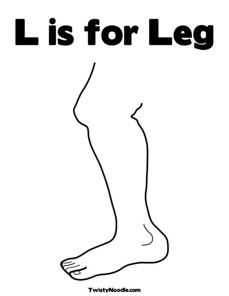 legs free colouring pages