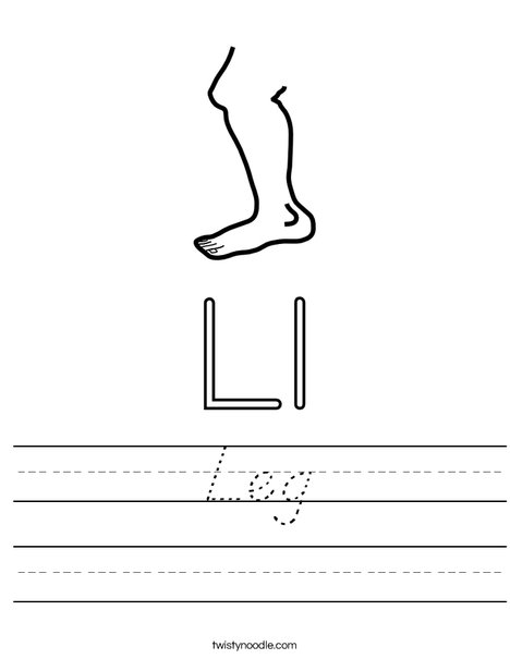 Leg Worksheet