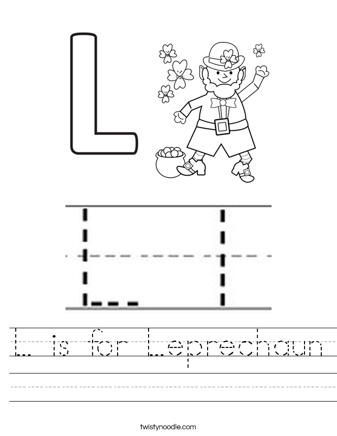 L is for Leprechaun Worksheet