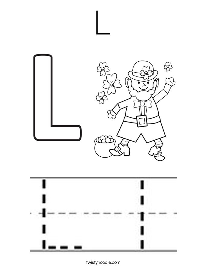 L Coloring Page