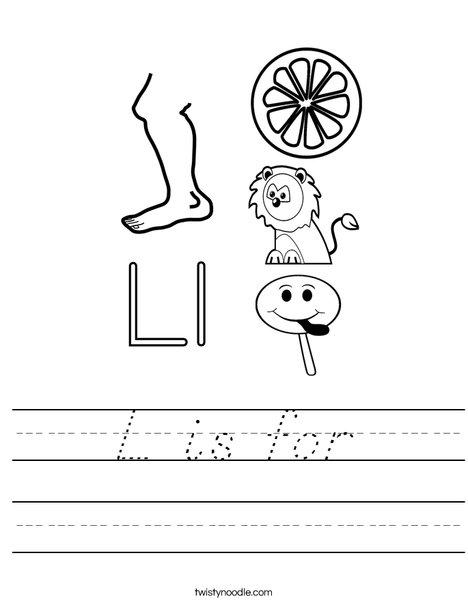 L is for Worksheet