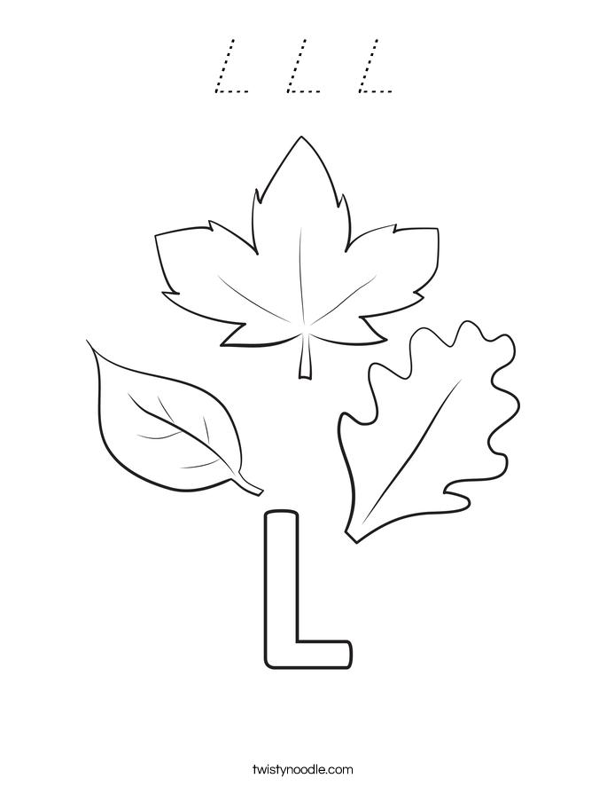 L L L Coloring Page