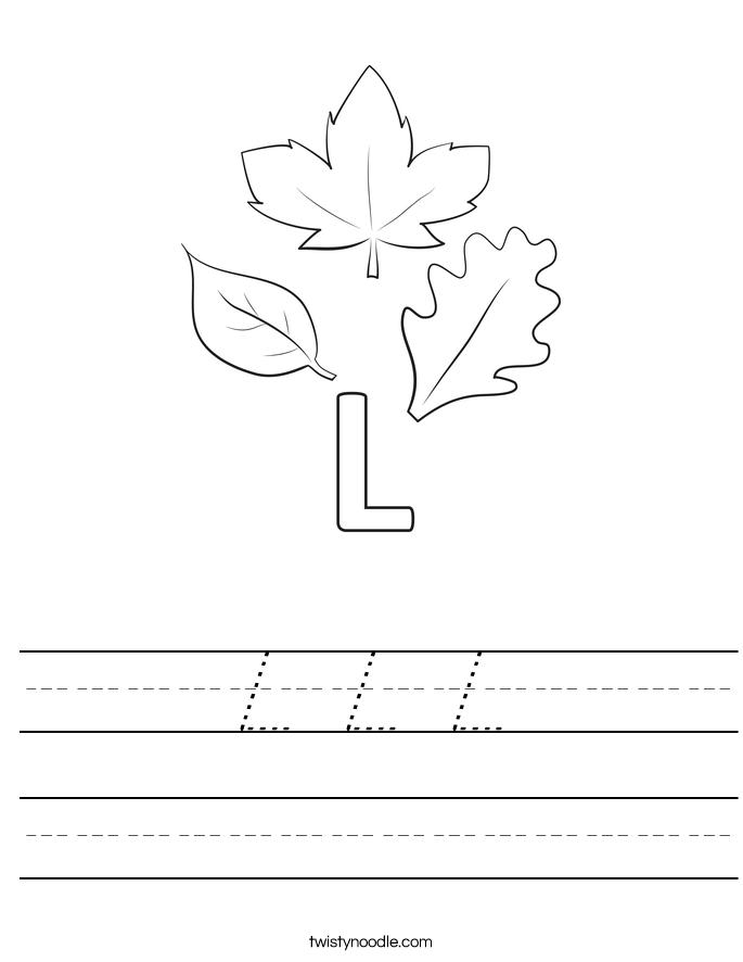 L L L Worksheet