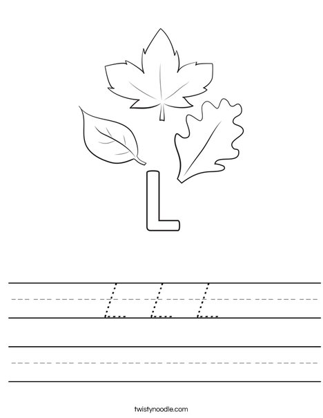 L Leaves Worksheet