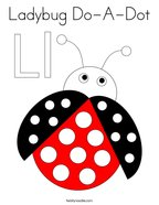 Ladybug Do-A-Dot Coloring Page