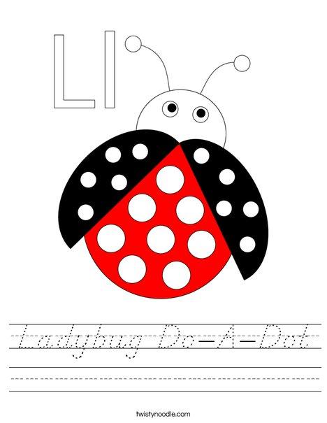 Ladybug Do-A-Dot Worksheet