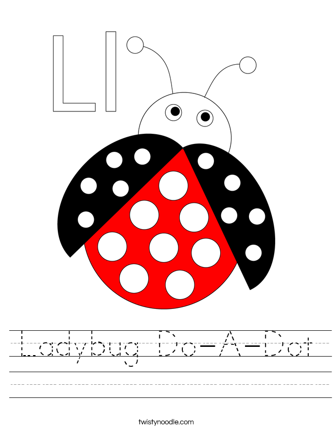 Ladybug Do-A-Dot Worksheet
