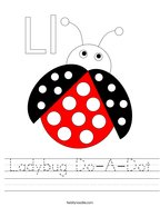 Ladybug Do-A-Dot Handwriting Sheet
