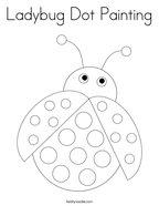 Ladybug Dot Painting Coloring Page