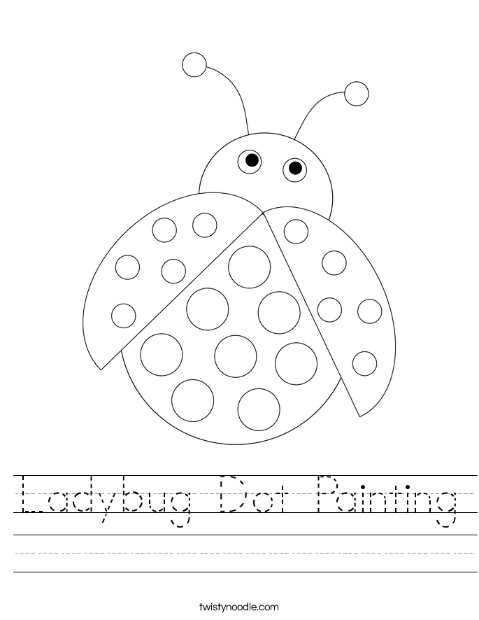 Ladybug Dot Painting Worksheet