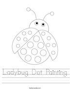 Ladybug Dot Painting Handwriting Sheet